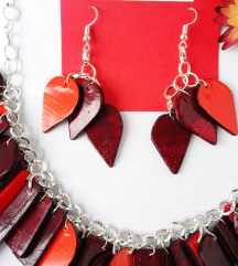 Komplet ogrlica+naušnice