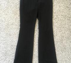 H&M Crne široke hlače visoki struk vel 36