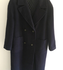 Maxi oversized dugi plavi kaput vel L