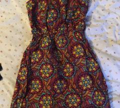 Ljetna mini šarena haljina
