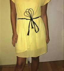 žuta, ljetna haljina