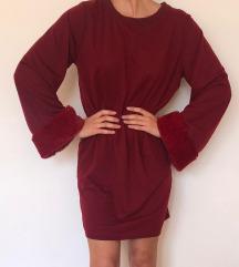 Nova bordo crvena haljina tunika