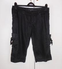 NOVE crne hlačice - lan