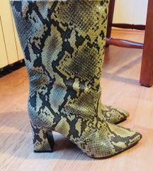 Mango snake print čizme