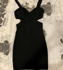 crna uska mini večernja haljina