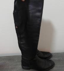 Crne čizme prava koža