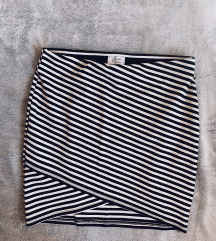 ZARA mini prugasta suknja - novo