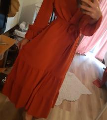 Duga koraljna haljina (uni) S, M i L