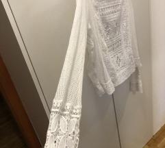 Čipka bluza bijela