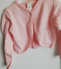 NOVO s etiketom, roza vestica bolero