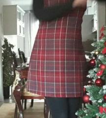 Karirana božićna haljina