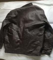 Muška zimska jakna od prave kože