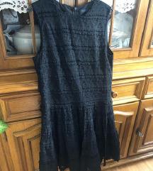 Crna čipkana Zara haljina