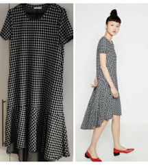 Zara Checkered midi dress S SNIŽŽŽŽENA