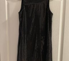 Crna šljokičasta Mexx haljina
