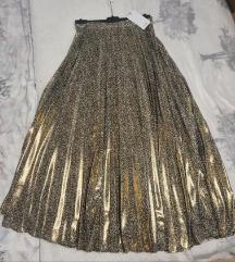 MANGO metalik plisirana suknja nova kolekcija