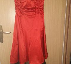 Crvena haljina od satena,M