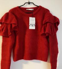 Zara s etiketom pulover