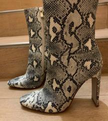 Shoebox čizme sa zmijskim printom