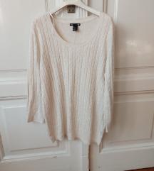 H&M basic bijeli pulover