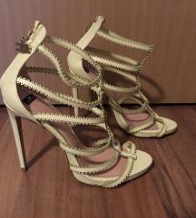 Elisabetta Franchi žute kožne sandale vel. 40