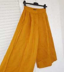 MASSIMO DUTTI žute široke culottes