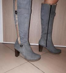 Čizme kožne, vel. 36