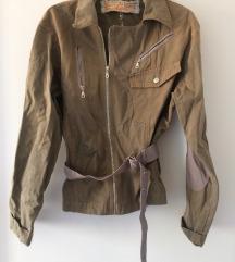Smeđa jaknica strukirana