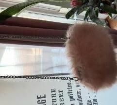 Roza čupava torbica