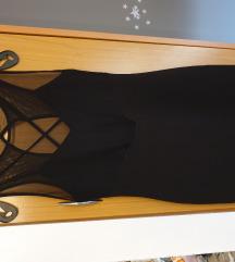 Bershka L crna haljina