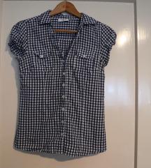 Majica košulja strukirana plavo bijela vel. M