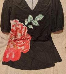 Crna plus size haljina/tunika