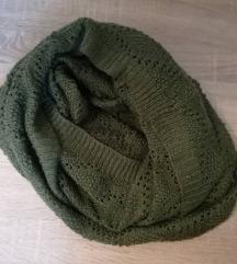 Zimski šal, maslinasto zeleni