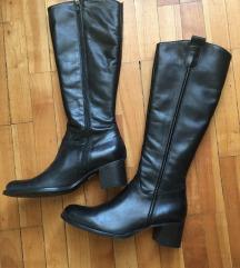 Nove crne kožne čizme - free shipping!
