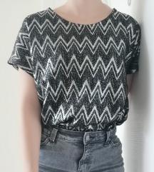 Crno srebrna majica kratkih rukava