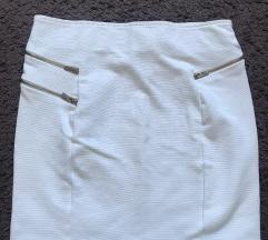 Bershka bandage bijela suknja