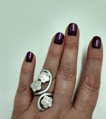 Vintage prsten srebro i sedef