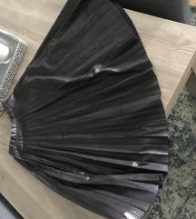Zara predivna midi plisirana kozna suknja:)