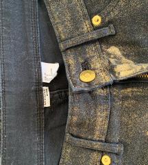 H&M zlatne hlače 38