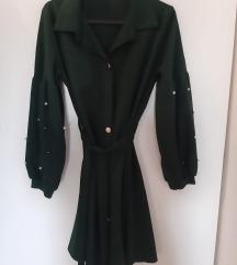 Zelena tunika-haljina