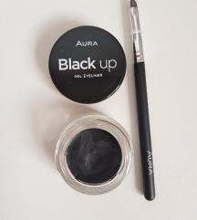 Aura Black Up tuš za oči u gelu, 4 ml