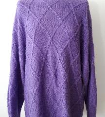 %%Lila oversized džemper