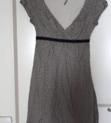 Esprit 2xnošena, pamuk,crno bijela haljina XS,S
