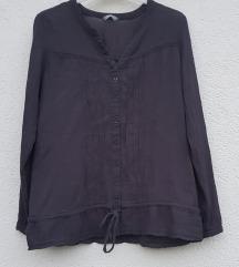 Siva košuljica volani/čipka 44