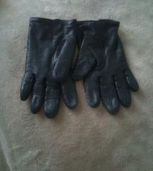 Crne kožne rukavice  large