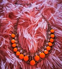 Neon narancasta ogrlica