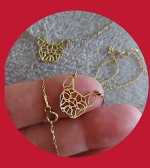 Narukvica i ogrlica,pozlačeno srebro 925