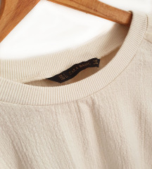 ZARA majica od kombiniranih materijala