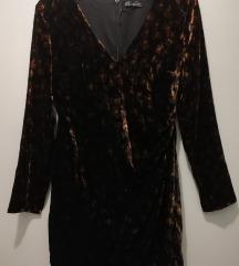2+1 GRATIS NOVO Zara velvet leopard haljina, vel M