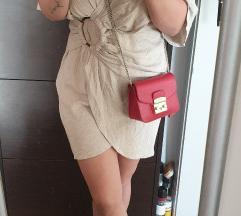 Asos lanena beige haljina nova